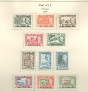Malaya Selangor 102-112 Mint VF NH