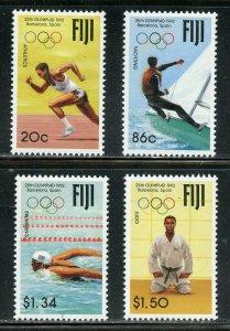 FIJI SCOTT #665/68 1992 BARCELONA OLYMPIC GAMES  SET  MINT NH