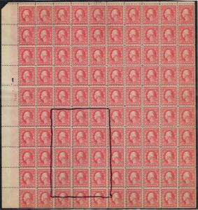 #467 UPPER LEFT SHEET OF 100 WITH THE DOUBLE ERROR MINT-OG/NH--F-F/VF