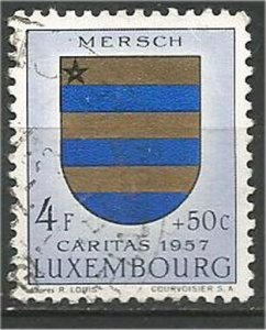 LUXEMBOURG, 1957, used  4fr+50c, Arms Scott B202