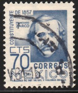 MEXICO 900, 70cents 1950 Definitive 2nd Printing wmk 300 USED (845)