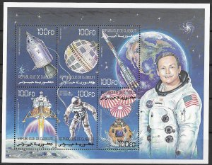 Djibouti MNH S/S Astronaut Neil Armstrong Space