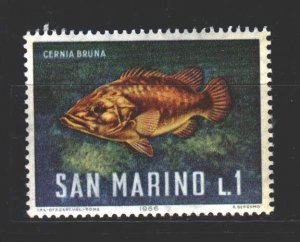 San Marino. 1966. 869. Fish fauna. MNH.