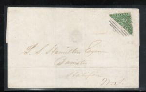 Nova Scotia #4a Very Fine Used Rare Bisect On Cover **With Certificate**