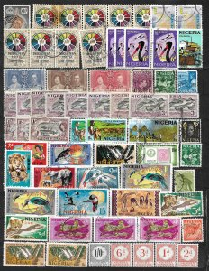 COLLECTION LOT OF 66 NIGERIA 1937+ STAMPS CLEARANCE