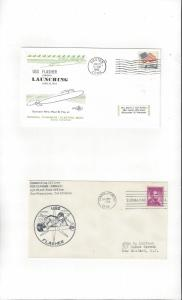 US Navy USS Flasher SSN 613, 2 Covers, Launch