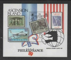 ASCENSION #473 1989 PHILEX FRANCE MINT VF NH O.G S/S
