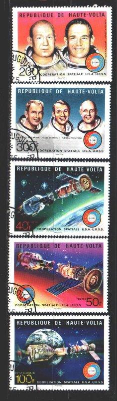 Upper Volta. 1975. 581-85. Space. USED.