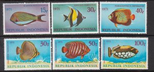 INDONESIA ^^^^^^1971-74  x2 MNH SETS  <  FISHES  >  $ 58.75 @@ dccc963indoxxx
