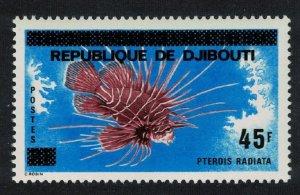 Djibouti Radial Lionfish 'Pterois radiata' Fish Ovpt 1977 MNH SG#696