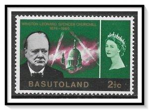Basutoland #106 Churchill Issue MH