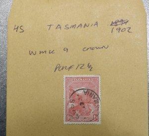 TASMANIA  Stamps   WMK 9  Crown  1902    ~~L@@K~~