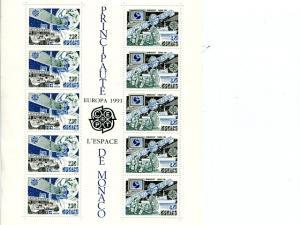 Monaco 1991 Europa mini sheet   Mint VF NH