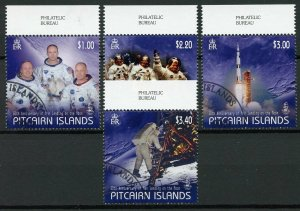 Pitcairn Islands 2019 CTO Moon Landing Neil Armstrong 4v Set Space Stamps