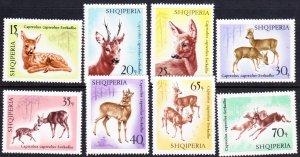 Albania #1043-50 MH set deer