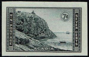 US STAMP #762 – 1935 7c National Parks: Acadia, MNH SUPERB