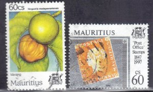 MAURITIUS  SC# 837+846 **USED** 1997  60c   SEE SCAN