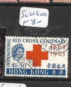 HONG KONG (P2905B) QEII  RED CROSS $10  SG 213  VFU