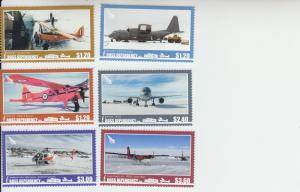 2018 Ross Dependency - New Zealand Aircraft (6) (Scott L156-61) MNH