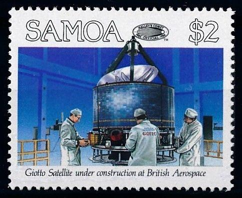 [65028] Samoa 1986 Space Travel Weltraum Giotto Satellite From Set MNH