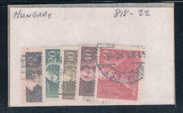 Hungary 818-22 Used Partial Set Scott nums Shown (H0068)