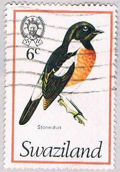 Swaziland 249 Used Stonechat 1976 (BP2602)