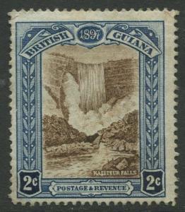 STAMP STATION PERTH British Guiana #153-QV 60TH Anniv. Throne MNG Wmk 1 CV$40.00
