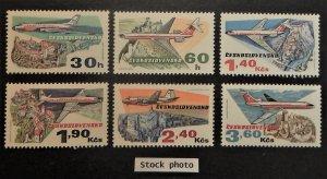 Czechoslovakia C77-82. 1973 Czech Aviation anniversary, NH