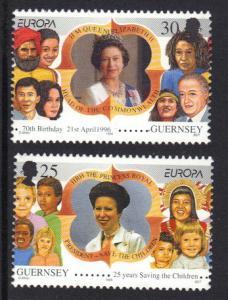Guernsey  #564-565  MNH  1996 Europa  famous women