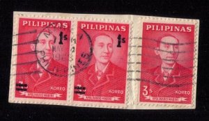 1963 Philippines Scott 873,855 Pair + One Used F-VF