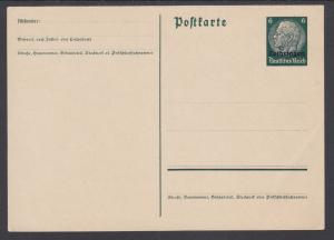 Germany, Occupation of Lorraine, H&G I31 mint 1940 6pf Postal Card w/ ovpt