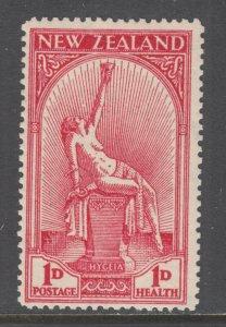 New Zealand Sc B5 MLH. 1932 1p+1p carmine Hygeia, Goddess of Health, cplt set