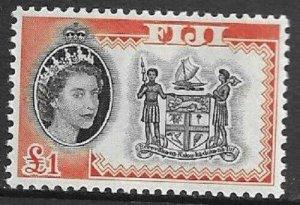 1964    FIJI  -  SG.  3235  -   £1  BLACK  &  ORANGE  -  MNH