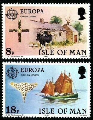 Isle Of Man MNH 191-2 Europa Folklore 1981