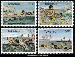 Tokelau Scott 73-76 Mint never hinged.