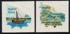 Norfolk 150th Anniversary of Second Settlement 2v SG#163-164 SC#185-186