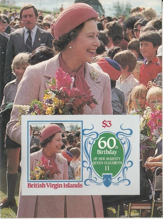 Briiitish Virgin Islands MNH S/S 536 QE II 60th Birthday
