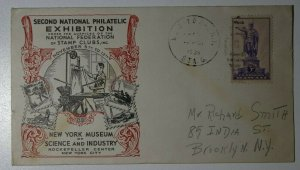 Natl Philatelic Exhibition NY Museum Wyckoff ad calendar insert 1938 Expo Cachet
