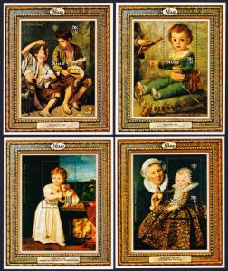 Niue Paintings International Year of the Child 4 MSs SG#MS283 SC#B8-B11