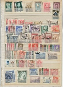 WORLDWIDE 2 STOCK PAGES COLLECTION LOT #3 ARGENTINA ALBANIA MORE $$$$$$$