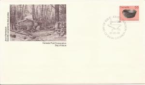 1987 Canada FDC Sc 1082 - Artifact - Iron Kettle