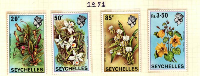 Seychelles Scott 280-283 MNH** Flower set