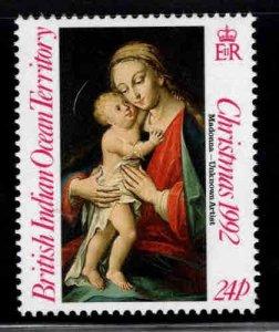 British Indian Ocean Territory BIOT Scott 129 MH* Christmas Madonna stamp