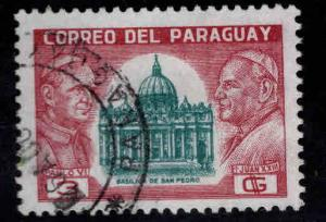 Paraguay Scott  823 Used Vatican Pope stamp