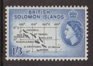 Solomon Islands  #100   MNH  1960  chart  1sh3p