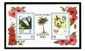 Fiji 623 MNH 1990 Birds S/S