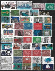 COLLECTION LOT OF 49 GERMANY 1960+ STAMPS