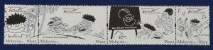 Malaysia Scott # 1266 The Kampung Boy cartoons By LAT Stamp Set MNH