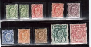 Falkland Islands #22 - #29 Mint Fine - Very Fine Original Gum Lightly Hinged