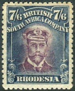 RHODESIA-1913-19 7/6 Maroon & Slate-Black Sg 276a